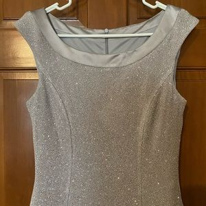 Beautiful Silver Sparkly Top Long Gown.